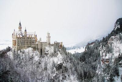 зима Нойшванштайн, экскурсия в замок, Бавария, зимняя Германия