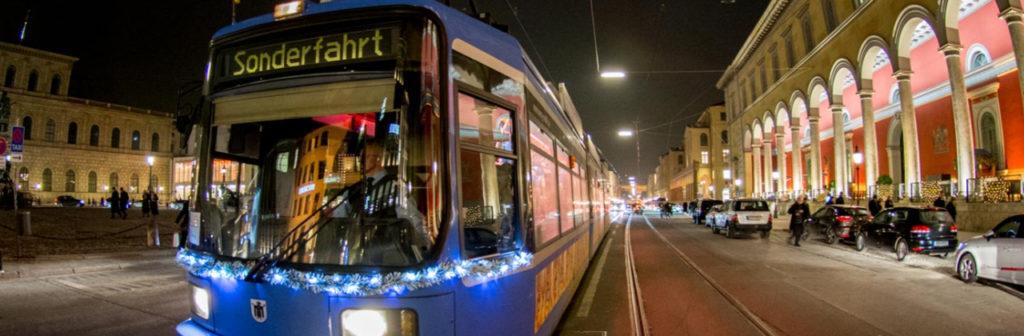 по вечернему мюнхену, Event Tram, экскурсия по мюнхену